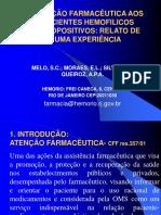 ATENÇÃO FARMACÊUTICA AOS PACIENTES HEMOFILICOS.ppt
