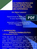 ATENÇÃOFARMACÊUTICAAOSPACIENTESHEMOFILICOS[1].ppt