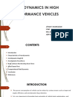 AERODYNAMICS IN HIGH PERFORMANCE VEHICLES