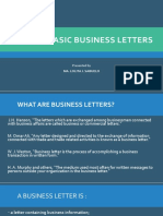 WRITING BASIC BUSINESS LETTERS