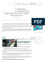 Quality Control Inspection Checklists and How to Use Them