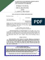 Maverick Bey Declaration of Habitation 56500321 1B Declaration Political Status 6-27-07