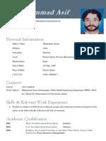 ASIF CV