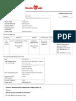 Electronic ticket receipt, January 09 for MR VEERAVENKATASATYANARAYANA ANTARVEDI