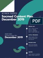 Ayaka Suites Socmed Content Plan December 2019 - English