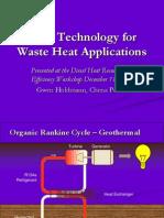 ORC Waste Heat-Holdmann