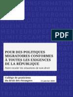 Rapport Immigration du 21 janvier 2020