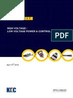 KEC - Price List Cables