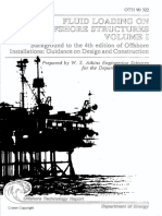 Fluid Loading on offshore structures Vol-1 (OTH 90-322)