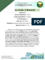Rosario, Cavite Research