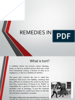 Tort2018 Remedies in Tort
