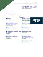 Forum on-line Julho de 2005