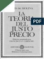 283467857 Luis de Molina La Teoria Del Justo Precio
