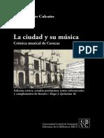 La ciudad y su música, Calcaño