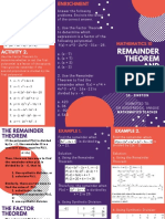 Remainder and Factor Theorem - 10 Math Brochure