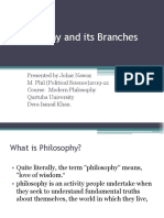 Philosophy and its Branches