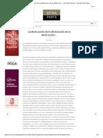 La destrucción de la destrucción de la destrucción… por María Minera - Revista Otra Parte