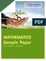 Mathematics Paper for class-X 2010