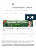 Essay Sample On Racism_ Meaning, Functions and Forms