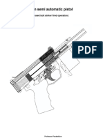 9mm semi automatic pistol. Professor Parabellum.