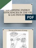OPTIMISING ENERGY EFFICIENCIES IN THE OIL & GAS