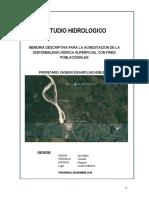 ESTUDIO HIDROLOGICO - ACREDITACION HIDRICA
