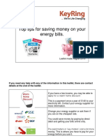 Top Tips for Saving Money on Your Energy