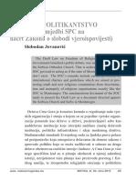 MATICA_ZAKON_O_ALOBODI_VJEROISPOVIJESTI_ slobodan jovanovic