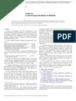 ASTM International - Standard Test Methods for Vickers Hardness