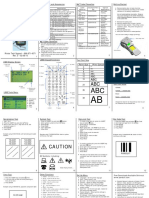 LS8E Quick Reference Card