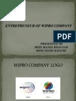 ENTREPRENEUR OF WIPRO COMPANY