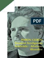Destinul Inteligentei Artificiale - Aforisme filozofice de Sorin Cerin