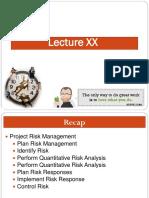 Lecture XX PM