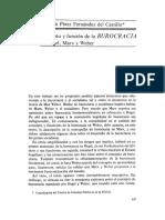 FERNANDEZ DEL CASTILLO Concepto y función de la BUROCRACIA en Hegel, Marx y Weber