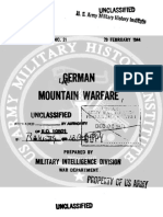 No.21 German moutain warfare