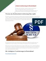 Die Beste Rechtsschutzversicherung in Deutschland