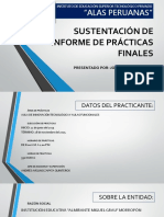 SUSTENTACIÓN DE INFORME DE PRÁCTICAS FINALES