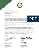 Legislator Letter to Sherburne County Board