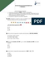 PRUEBA DE EDUCACIÓN MATEMÁTICA 4° BASICO