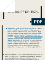 TRIAL OF DR. RIZAL