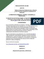 Resolución del Ministerio de Ambiente 0601 de 2006
