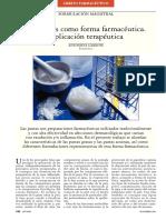 Las Pastas Como Forma Farmaceutica