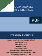 ETAPAS LITERATURA ESPAÑOLA