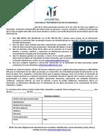 AUTORIZACION  DE DATOS PERSONALES