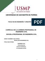 Plan de Estudios - Ingeniería Civil