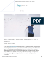 30 Software Architect interview questions and answers – 7loops – tech blog