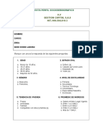ENCUESTA PERFIL SOCIODEMOGRAFICO K.F GESTION CAPITAL