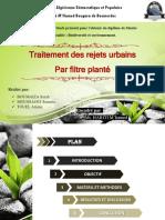 traitement des rejets urbains par filtre planté