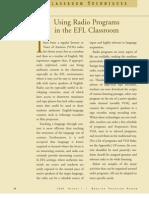 Using Radio Program in the EFL Classroom