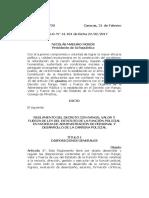 REGLAMENTO - CARRERA POLICIAL